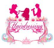 Icona del salone di lavoro di parrucchiere Immagine Stock