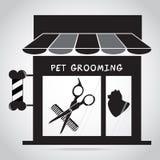 Icona del salone governare del cane Illustrazione di logo del salone di bellezza dell'animale domestico royalty illustrazione gratis