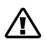 icona del segnale attento del triangolo illustrazione vettoriale