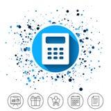 Icona del segno del calcolatore Simbolo di contabilità illustrazione vettoriale