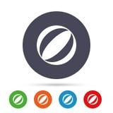 Icona del segno del beach ball Palla dell'acqua Fotografia Stock