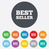 Icona del segno del best-seller. Simbolo del premio del best-seller Fotografia Stock