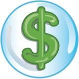 Icona del segno del dollaro Fotografie Stock