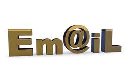 Icona del segno del email sul bianco. Immagini Stock