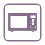 Icona del segno del forno a microonde Fotografia Stock