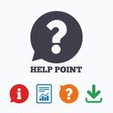 Icona del segno del punto di aiuto Simbolo di domanda Fotografia Stock