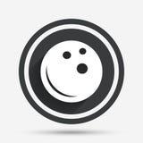 Icona del segno della palla da bowling Simbolo della ciotola Fotografia Stock