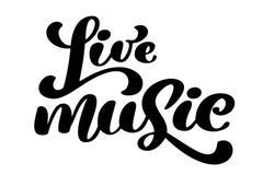 Icona del segno di musica in diretta Simbolo di karaoke Citazione moderna di calligrafia Passi scritto l'iscrizione del testo con Fotografia Stock Libera da Diritti