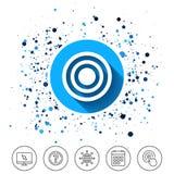 Icona del segno di scopo dell'obiettivo Simbolo del bordo di dardi illustrazione di stock