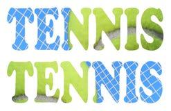 Icona del segno di tennis Immagini Stock Libere da Diritti