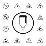 icona del segno di trasfusione di sangue Insieme dettagliato delle icone dei segnali di pericolo Segno premio di progettazione gr royalty illustrazione gratis