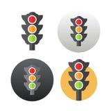 Icona del semaforo Immagine Stock