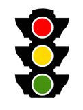 Icona del semaforo Fotografia Stock