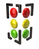 Icona del semaforo Immagine Stock Libera da Diritti