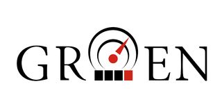 Icona del sensore di temperatura Logotype semplice di stile Immagine Stock Libera da Diritti