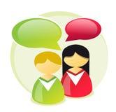 Icona del servizio clienti illustrazione di stock
