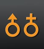 Icona del sesso Fotografia Stock Libera da Diritti