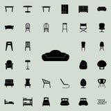 Icona del sofà Insieme universale delle icone della mobilia per il web ed il cellulare illustrazione di stock