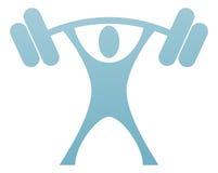 Icona del sollevatore di pesi Fotografia Stock