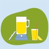 Icona del succo della limonata Illustrazione piana di vettore Fotografie Stock
