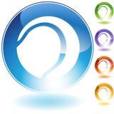 Icona del sussidio del segno della sfera Fotografia Stock