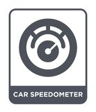 icona del tachimetro dell'automobile nello stile d'avanguardia di progettazione icona del tachimetro dell'automobile isolata su f illustrazione di stock