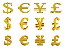 Icona del tasto dei soldi (01) Fotografie Stock Libere da Diritti