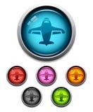 Icona del tasto dell'aeroplano Immagine Stock Libera da Diritti
