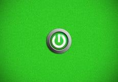 Icona del tasto di potenza Fotografia Stock