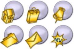 Icona del tasto di Web (02) Fotografie Stock