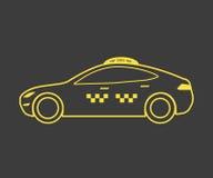 Icona del taxi Immagini Stock