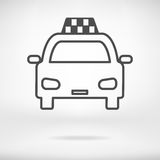 Icona del taxi Fotografia Stock Libera da Diritti