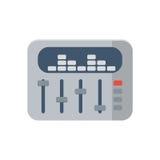 Icona del tecnico del suono su fondo bianco, vettore Fotografie Stock