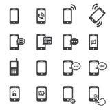 Icona del telefono immagine stock