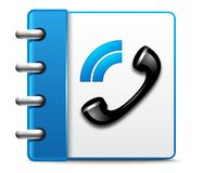 Icona del telefono di vettore Fotografie Stock Libere da Diritti