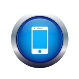 Icona del telefono mobile Fotografie Stock