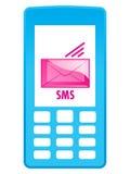 Icona del telefono mobile - SMS Immagine Stock Libera da Diritti