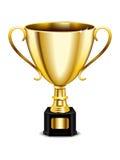 Icona del trofeo dell'oro Fotografia Stock Libera da Diritti
