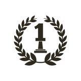 Icona del trofeo di numero uno illustrazione vettoriale