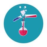 Icona del tubo del laboratorio Immagine Stock