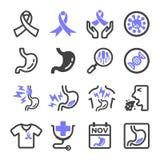 Icona del tumore dello stomaco illustrazione di stock