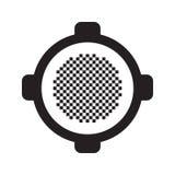 Icona del vaso Illustrazione piana di vettore Fotografie Stock