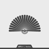Icona del ventaglio per il web ed il cellulare Fotografia Stock