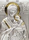 Icona del virgo Marie con la s Fotografia Stock Libera da Diritti
