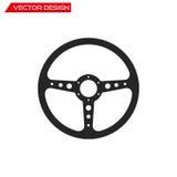 Icona del volante di sport di vettore Immagine Stock