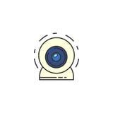 Icona del webcam di vettore Immagini Stock