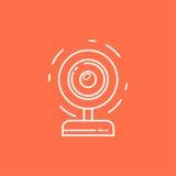Icona del webcam di vettore Immagine Stock