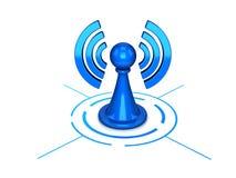 Icona del Wi-Fi isolata su bianco Fotografie Stock