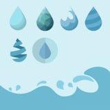Icona dell'acqua Fotografia Stock