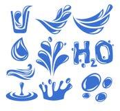 Icona dell'acqua Fotografia Stock Libera da Diritti